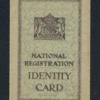 R Carter's national registration identity card